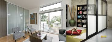 interior glass sliding doors in a family room