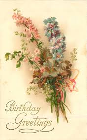 Postcards For Birthday Birthday Greetings Bouquet Of Flowers Happy Birthday
