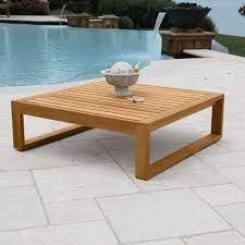 teak wood side table casita square