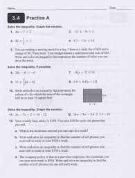 yesterday s work units and have a problem use math to  cw hw solving inequalities one variable 1 5