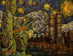 nyc starry night twin towers jack lepper