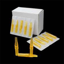Tattoo Supply <b>50pcs</b>/Box 7FT Sterile Tattoo <b>Yellow Plastic</b> ...