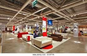 Warehouse area of Ikea furniture store, England, UK