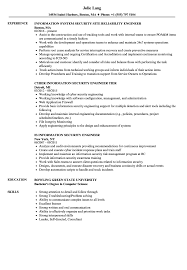 Security Engineer Information Security Resume Samples Velvet Jobs