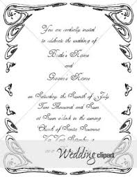 5x7 border template ornate scrolled invite with white on black border wedding