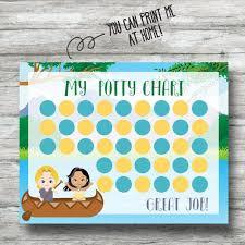 Printable Pocahontas Potty Chart Instant Download