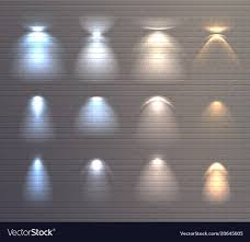 Image Metal Light Effects Brick Wall Set Vector Image Vectorstock Light Effects Brick Wall Set Royalty Free Vector Image