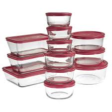 24pc anchor hocking glass food storage container set bpa free
