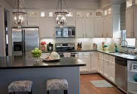 off white kitchen cabinets with black countertops. Kitchen. Luxury White Cabinets With Engineered Floor And Black Countertop . Off Kitchen Countertops