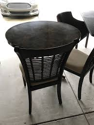 brown round table 30 chairs not included for in knightdale nc offerup