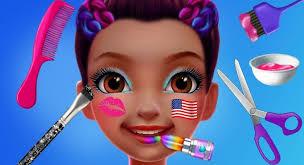 fun gymnastics superstar dance makeup dress up spa hair nail salon kids s games