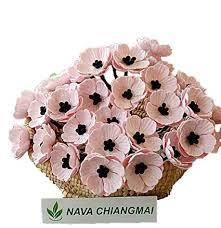 Make A Paper Poppy Flower Nava Chiangmai Poppies Mulberry Paper Flower Poppy Flower For Scrapbooking Wedding Doll House Supplies Card Diy Crafts Artificial Mulberry Paper