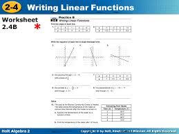 holt mcdougal algebra 2 worksheets
