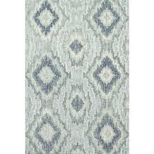 black and white ikat rug home transitional hand hooked grey blue wool area rug 7