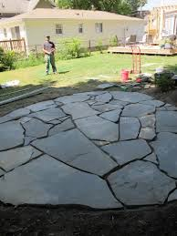 loose flagstone patio. Modren Patio How To Build A Flagstone Patio On Uneven Ground In Loose