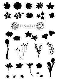 印刷用イラストカット草花 てんぱる Booth