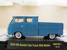 M2 MACHINES 1960 VW Double Cab truck Gold Chase Walmart Exclusive 1 ...