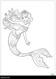 picture of mermaid to color. Plain Picture Barbie Coloring Pages For Free Mermaid Printable  Impressive Color Book Design Ideas  With Picture Of To