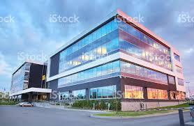 modern office building. Modern Office Building At Sunset Royalty-free Stock Photo