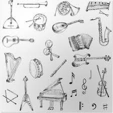 Poster Cartoon Muziek Instrumenten Kleurplaat Pixers We Leven
