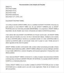 Recommendation Letter Sample From Employer For Mba Inside Sample