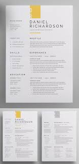 30 Creative Clean Cv Resume Templates With Cover Letters