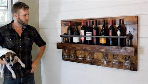 how to build an industrial wine rack diy project