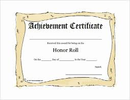 Certificate Of Honor Template 30 Honor Roll Certificate Template Pryncepality