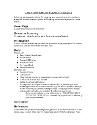 Format For An Executive Summary Doc Case Study Report Format Guideline Executive Summary