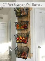 diy wall mounted fruit and veggie