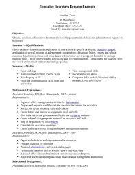Secretary Resume Examples Secretary Resume Example Resume Cover Letter 4