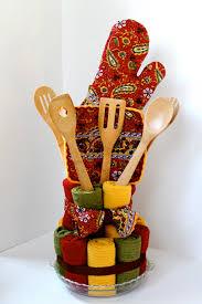 Kitchen Gift Basket Dish Towel Cake A Bridal Shower Gift The Cottage Mama