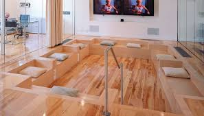 pictures of the exclusive maple hardwood flooring for expansive interior look