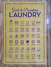 How To Do Laundry Chart Laundry Symbol Wikipedia