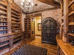 Wine Cellar Pictures Mediterranean Wine Cellar With Interior Brick French Doors