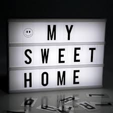2017 New Led Diy Combination Light Box Night Lamp A4 A6 Size Letters