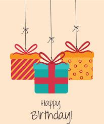 Cartoon Style Happy Birthday Greeting Card Template Vector