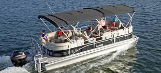 lowe pontoon double bimini option