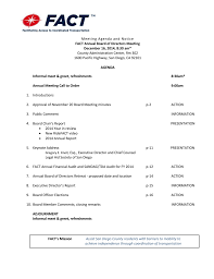 Meet And Greet Meeting Agenda December 2014 Agenda