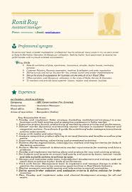best resume format for experienced banking professional ...