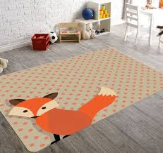 fox nursery rug