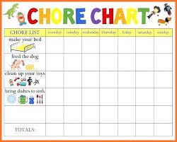 Chore Chart Maker Free Template Free Printable Preschool Chore Chart The Mommy Ideas Make A
