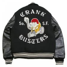 whitesville letterman regular fit black wool black raglan leather sleeve crank buster jacket wv11375