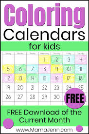 Help them by downloading this calendar today. Free Calendars For Kids Mama Jenn