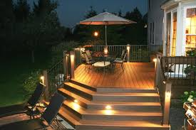 deck accent lighting. Awesome Trex Deck With Stair Riser And Accent Lights Archadeck Of Within  2018 Modern Garden Low Deck Accent Lighting D