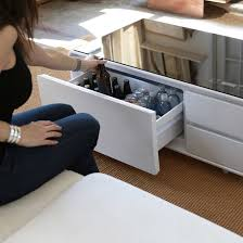 sobro smart coffee table w fridge speakers led lights and charging ports