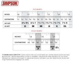 Simpson Racing Helmet Sizing Chart Simpson Diamondback Sa10 Racing Helmet