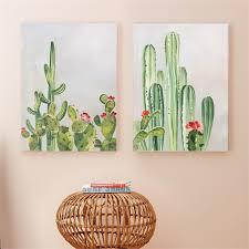 cactus wall art set