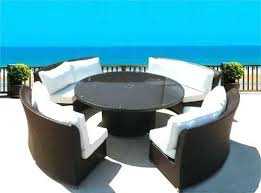 round patio sofa delightful round patio table and chairs inspiring creative of outdoor dining sofa set