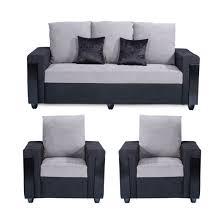 fabric sofa set. Bharat Lifestyle Ocea 3+1+1 Fabric Sofa Set B